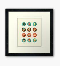 Ice-cream Icons Framed Print