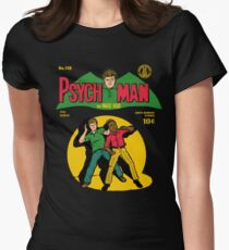 Psychman and Magic Head Women's Fitted T-Shirt