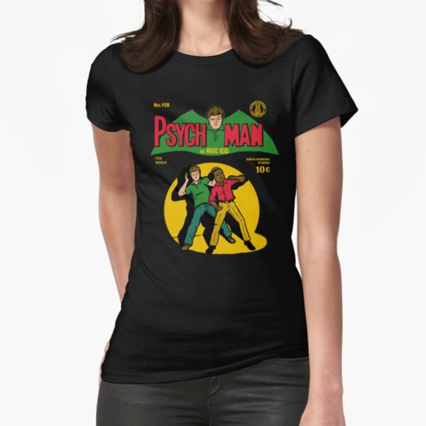 Psychman and Magic Head Fitted T-Shirt
