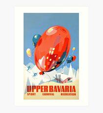 Upper Bavaria Vintage Travel Poster Art Print