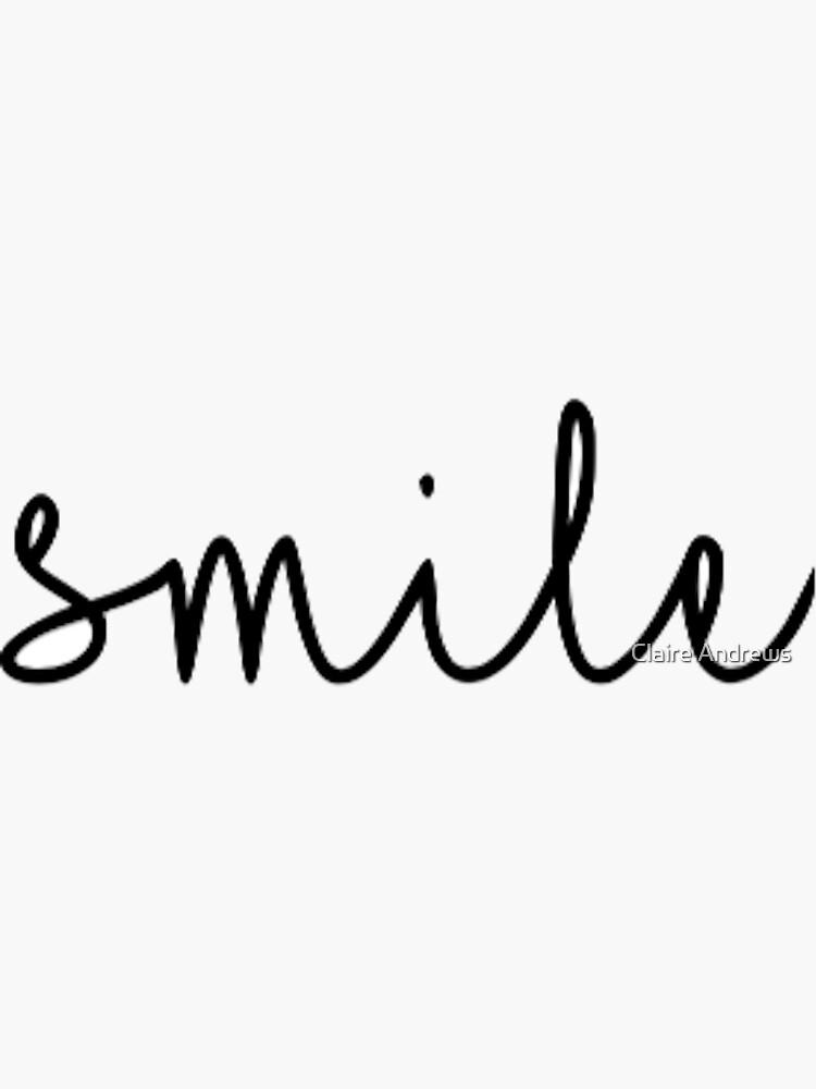 Smile Script von Claireandrewss