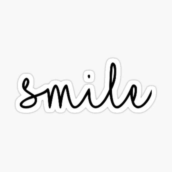 Smile Script Sticker