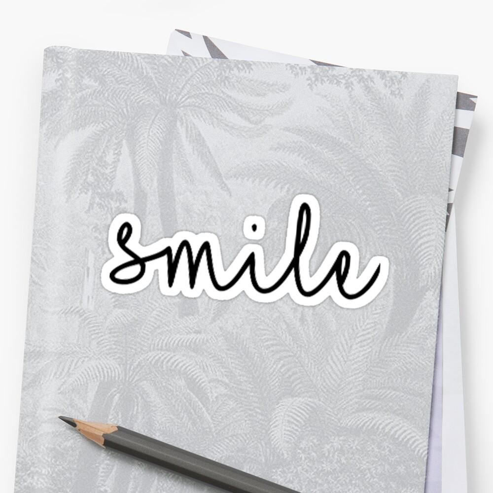 Smile Script Sticker