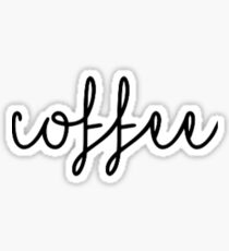 Script Coffee Sticker