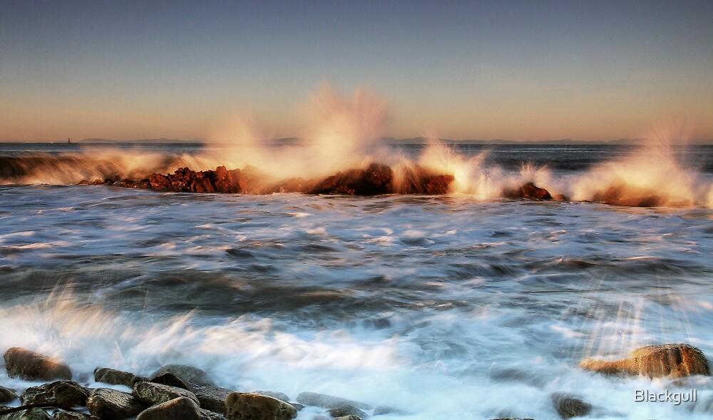 Winter Sun - Hythe Rock by Blackgull