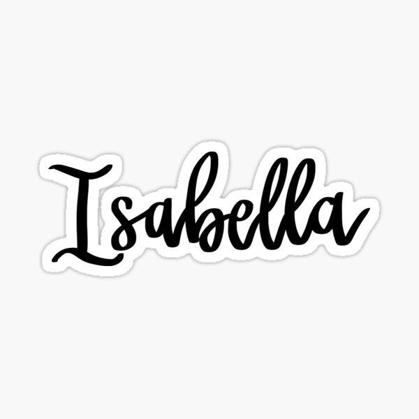 Isabella Sticker