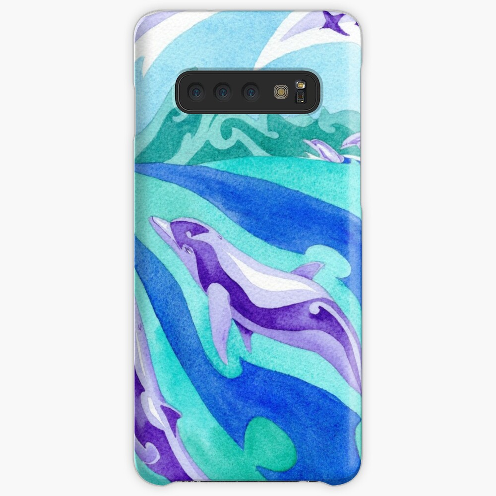 Polynesian dolphins swimming in Moorea Case & Skin for Samsung Galaxy