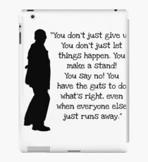 Doctor who 9th Doctor Quote iPad Case/Skin