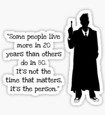 Doctor Who 10th Doctor Quote Sticker
