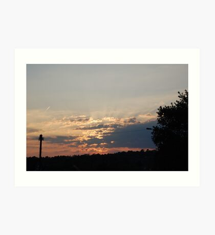 Sunrise over Sea Mills Art Print