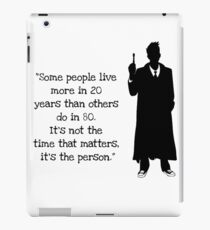 Doctor Who 10th Doctor Quote iPad Case/Skin