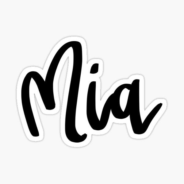 Mia Sticker
