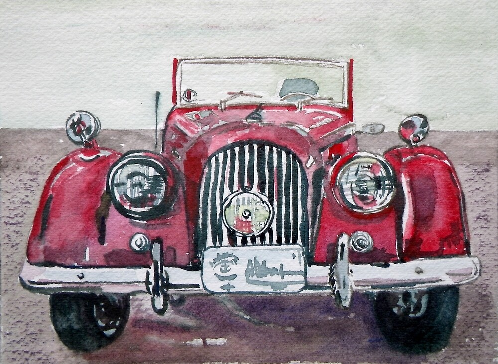 Morgan Red Car by BAR-ART