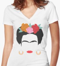 Kahlo Women's Fitted V-Neck T-Shirt