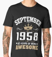 September 1958 60 years of being awesome Men's Premium T-Shirt