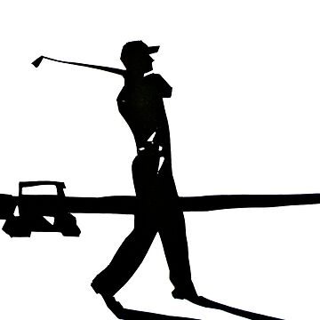 Golfer in Black and White by BAR-ART