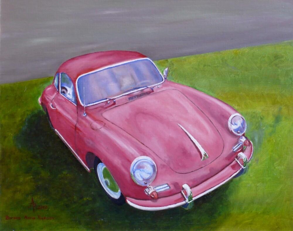 Red Porsche 356 by BAR-ART