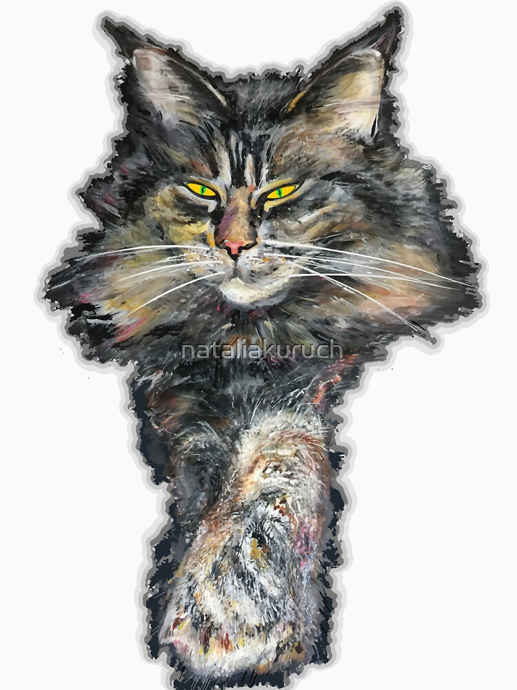 Maine coon  gris by nataliakuruch