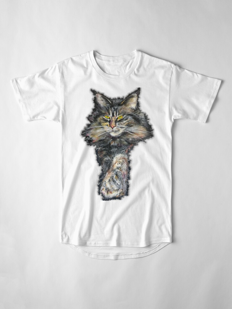 Alternate view of Maine coon  gris Long T-Shirt