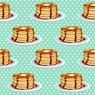 Pancakes with Maple Syrup Pattern by tanyadraws