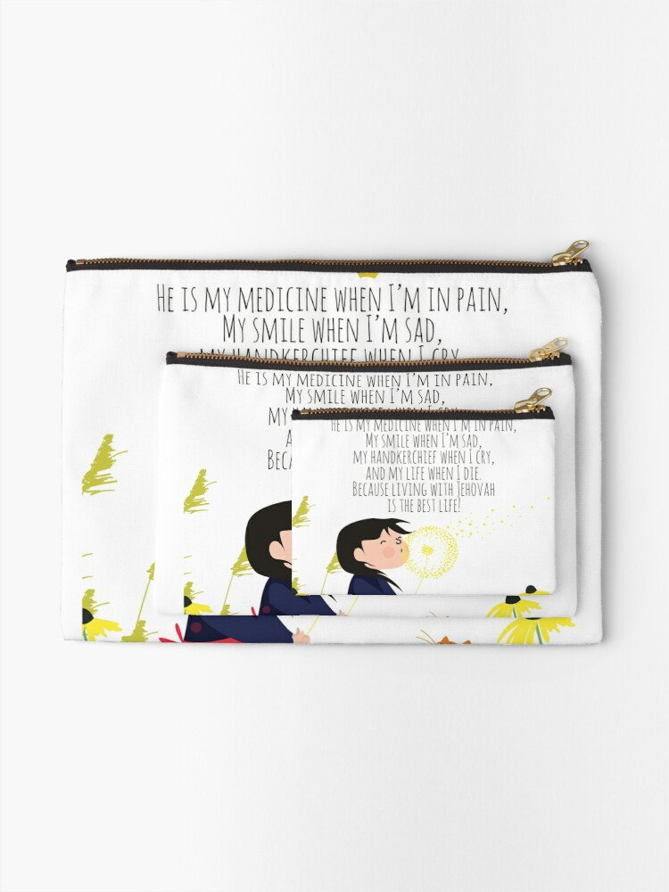 Alternate view of living with Jehovah is the best life! Zipper Pouch