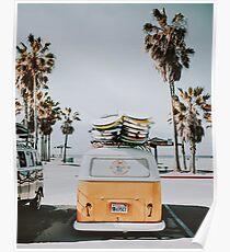 let's surf / venice, california Poster