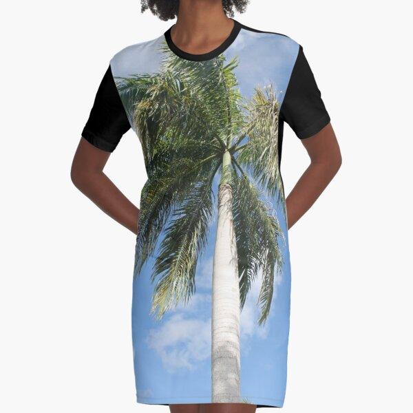 Big palm Graphic T-Shirt Dress