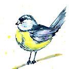 Blue and Yellow Chickadee by Jeri Stunkard