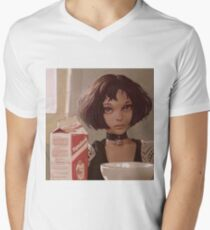 Natalie Portman Leon Jean Reno the Professional Matilda Men's V-Neck T-Shirt