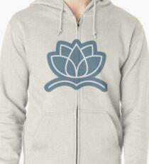 Lotus Flower Zipped Hoodie