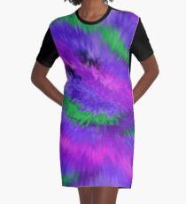 Purple Waves, Purple Waves Graphic T-Shirt Dress