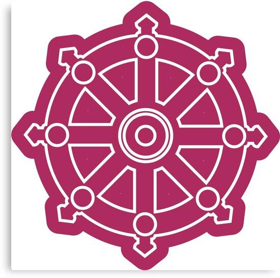 dhamma wheel dharmachakra canvas prints by iopan redbubble