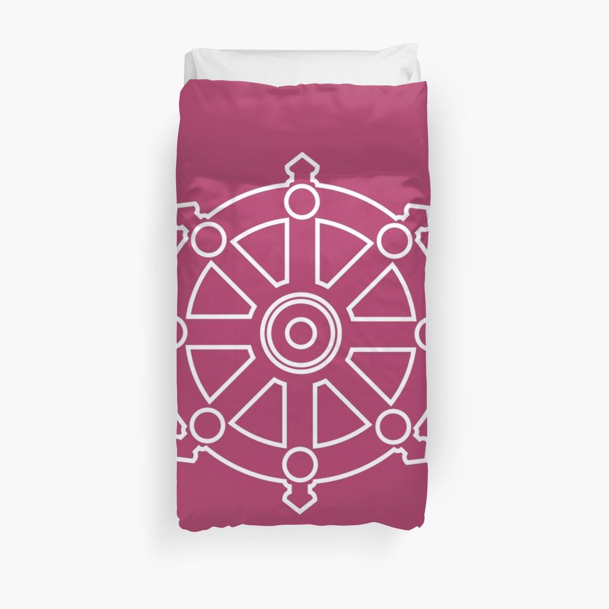 dhamma wheel dharmachakra duvet covers by iopan redbubble
