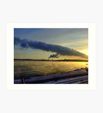 Power Station With Smoke on the Water Art Print