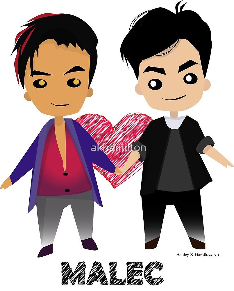 "Magnus and Alec ""MALEC"" (""Shadowhunters"") by akhamilton"