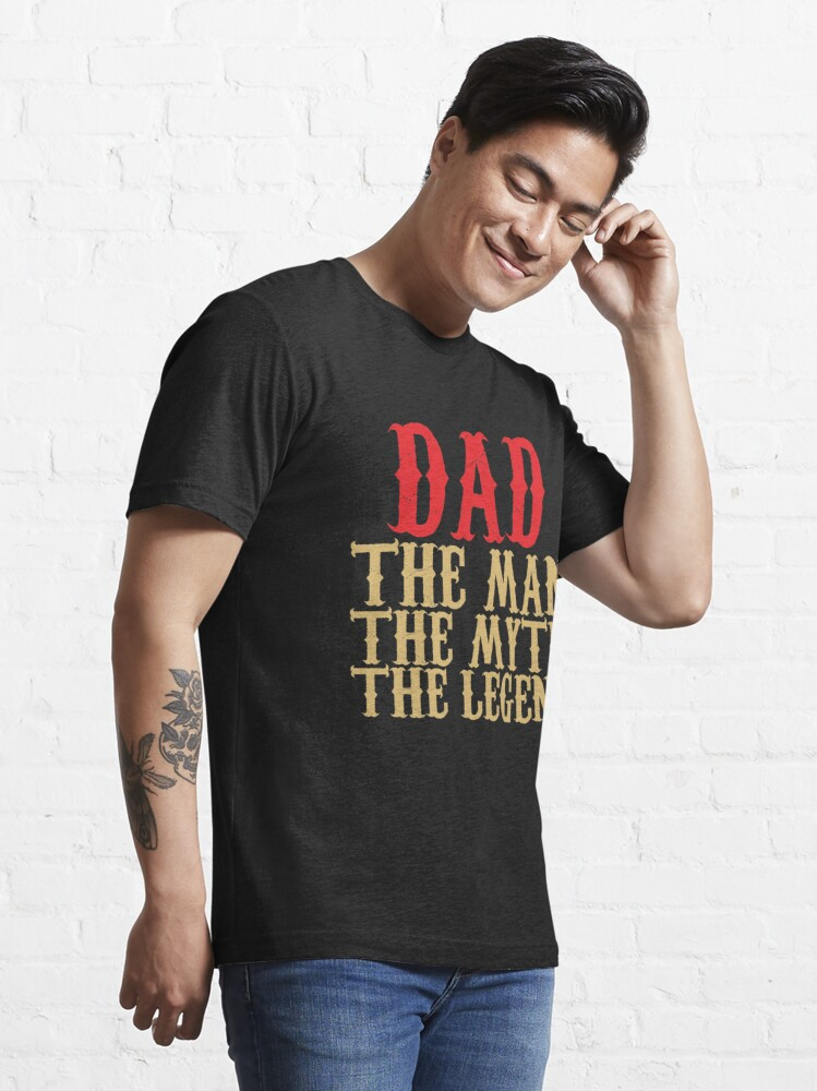 Alternate view of Dad - The Man, The Myth, The Legend Essential T-Shirt