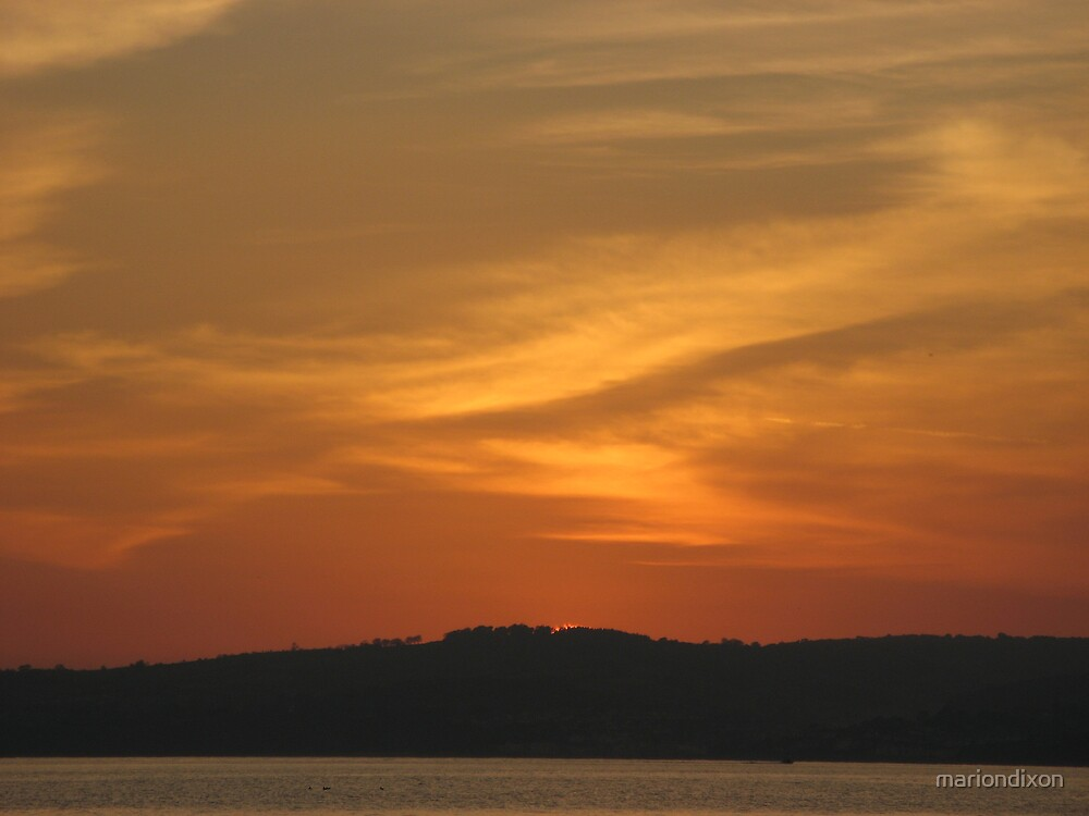 Exmouth Sunset 2 by mariondixon