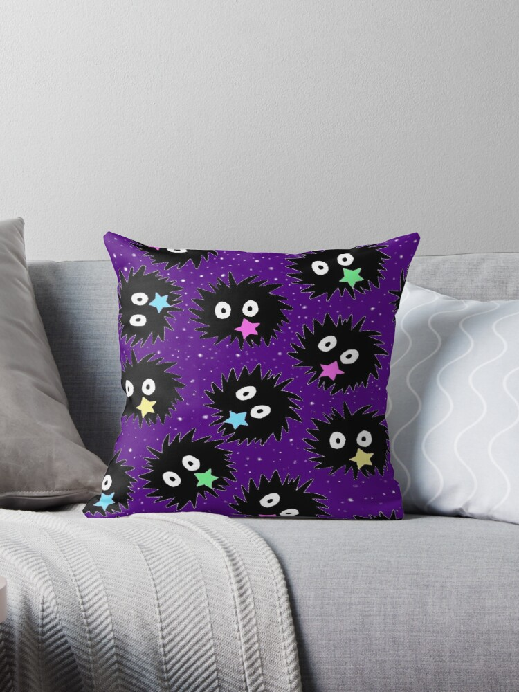 Sootsprite pillows and bags by Kristen Hallas