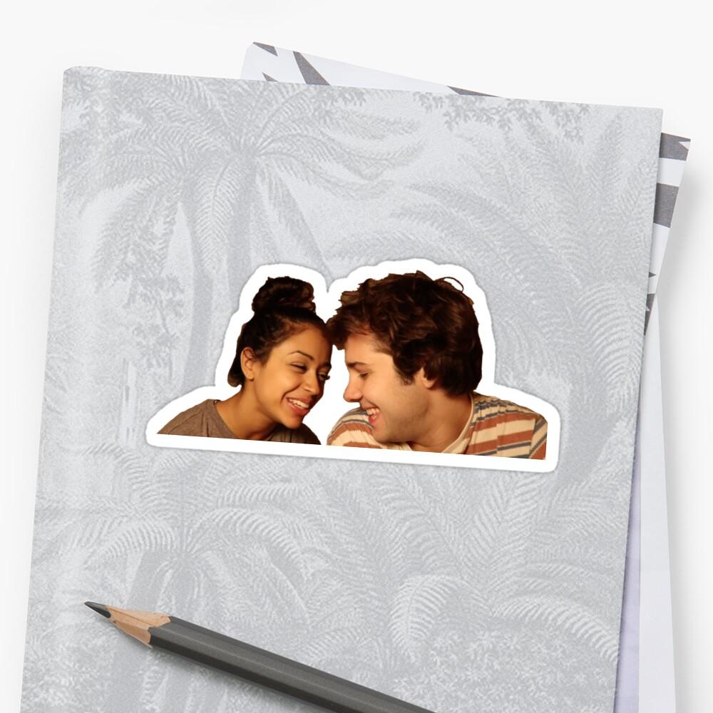 David and Liza Sticker by jinll