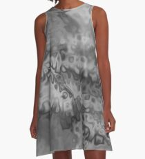 Blur of Black & White A-Line Dress