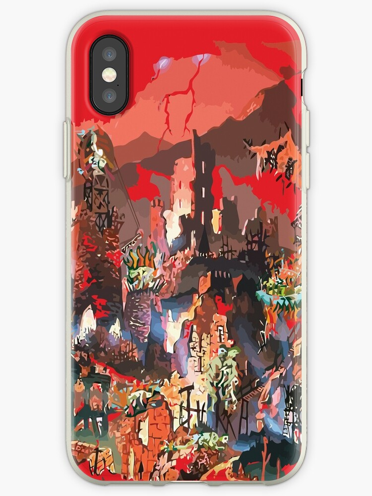Hell Red Fire Flames by JoeDesignShop