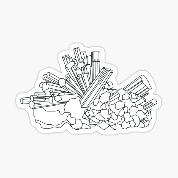 Aquamarine Crystal Sticker