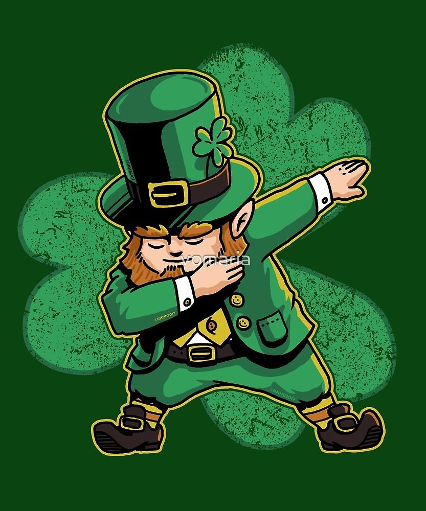 Dabechaun Leprechaun Dabbing St Patricks Day Green Shirt by vomaria