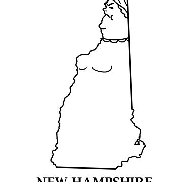 A funny map of New Hampshire by funnymaps