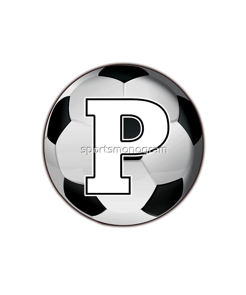 Monogram P Black and White Soccer Ball by sportsmonogram