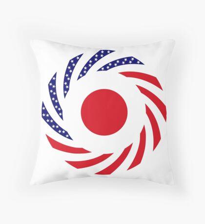 Japanese American Multinational Patriot Flag Series Throw Pillow