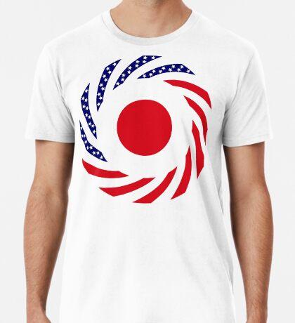 Japanese American Multinational Patriot Flag Series Premium T-Shirt