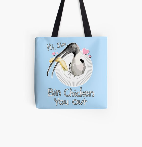 Bin Chicken You Out (blue) All Over Print Tote Bag