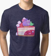 Berry Kitty Cake Tri-blend T-Shirt