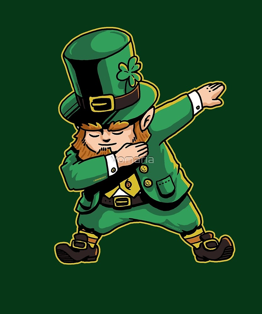 Dabechaun Funny Leprechaun Dabbing St Patricks Day Shirt by vomaria